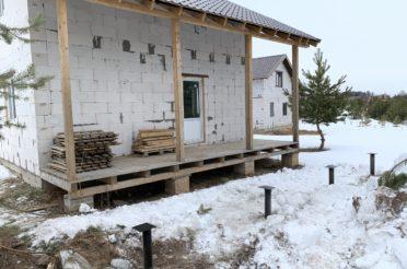 Фундамент для крыльца и террасы дома